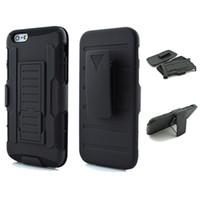 ingrosso caso di iphone 5c del silicone nero-Custodia 3 in 1 Hybrid Black Armor per iPhone 5 5S SE 5C 6 6S 7 Plus Impact Belt Clip Supporto per cavalletto Heavy Duty Cover per HTC M7 M8 M9 M10 626