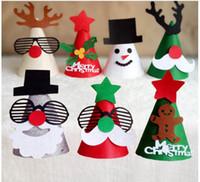 Wholesale Wholesale Christmas Tree Hat - Christmas Decoration Christmas hat diy Christmas Hats gifts Children Christmas Gift 1mm Santa Claus, Christmas tree hats