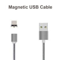 Wholesale Usb Champagne - Magnetic Charging Cable Micro USB Cable Nylon Braided High Speed Type c Charger 3.3ft 1M For Android Samsung Phone With Retail Package