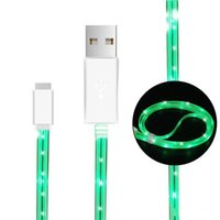 Wholesale Light Up Iphone Charger Cable - LED Cable 3.3ft USB 2.0 Micro Date Charger 4 colors USB Light Up Charging Sync Cords for i6 Samsung