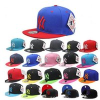 Wholesale basic cap - New Fashion Mens Womens Hip-hop Baseball Cap Adjustable Snapback Cap NY Basic Hat Baseball Caps Hats
