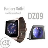 Wholesale Pc Wrist Watch - Factory Outlet : 30 pcs 1.56 inch Smart Watch DZ09 Support SIM Card & TF card For Android & IOS cellphone