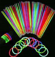Wholesale Glow Sticks Bracelets Necklaces - 2017 Christmas LED Light Sticks Multi Color Glow Sticks Flash Bracelet Necklaces Children Adults Party Novelty Toys Gifts