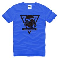 Wholesale Mens Red Star T Shirt - WISHCART Star wars trooper division Mens T Shirt Fashion 2016 Short Sleeve O neck Cotton Tee Camisetas Hombre