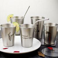 Wholesale zebra steel - Zebra Coffee Mug Stainless Steel Tumbler Animal Pattern Milk Cup Portable Many Styles Hot Sale 8 5zx2 C R