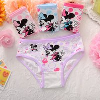 Wholesale Underwear Kids Girl - cute underwear for girls 100% cotton children underwear shorts kids briefs Mickey Minnie Mouse Hello Kitty panties kids 2-10 Years Old