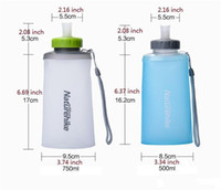 Wholesale materials direct - water bottle foldable water bottle portable outdoor sports bottle foldable cup Food grade TPU material BPA free DHL