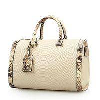 Wholesale Real Snake Skin Bag - Real 100% genuine leather bags for women crocodile snake skin designer brand handbag high quality ladies shoulder bags NEW 2016