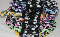 "Wholesale Titanium Weave Necklaces - wholesale 410pcs titaniuim necklace 3 rope weaves baseball football many colors size 18"" 20"" 22"""
