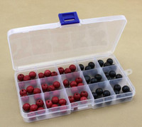Wholesale Storage Box 15 - New Arrive 15 compartments Slots Compartment Adjustable Jewelry Necklace Clear Storage Box Case Holder Craft Organizer