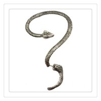 Wholesale Twining Earring - Fashion Temptation Snake Earrings Left Ear Cuff Silver Sexy Twine Wind Temptation Long Snake Stud Earring The Lowest Price Free Shipping
