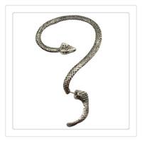 punho frete grátis venda por atacado-Moda Tentação Cobra Brincos Esquerda Ear Cuff Prata Sexy Twine Vento Tentação Longa Serpente Brinco O Menor Preço Frete Grátis