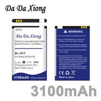 Wholesale Bl 5ct Battery - Da Da Xiong 3100mAh BL5CT BL-5CT BL 5CT Li-ion Phone Battery for Nokia 5220 C3-01 C6-01 6730c C5 C5-00 6303C 5220XM
