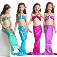 Wholesale Hot Pink Swimsuit 4t - Girls Mermaid Tail Swimsuits Kids Mermaid Bikini Hot Sale Girls Swimsuits Kids Beach Swimwear Mermaid Bathing Suits