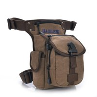 Wholesale Salomon Brand - Leisure washed canvas waist packs men's travel bags military equipment salomon Outdoor sports bag Brand man legs