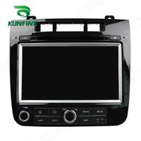 Wholesale Dvd Player 3g Touareg - Quad Core 1024*600 HD Screen Android 5.1 Car DVD GPS Navigation Player for VW Touareg 2010-14 Radio Bluetooth 3G Wifi steering wheel control