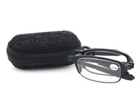 Wholesale Big Frame Reading Glasses - 2016 Big discount Portable Folding TR90 Frame Resin lens Reading Glasses UV-Protection for Elder Reader with Box