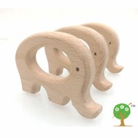 Wholesale Handcrafted Toys - 20pcs x 70mm DIY Organic beech Elephant Ring teether nursing toy smooth 2.75 inch DIY fitting Handcrafted baby gift EA31
