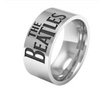 jóia da faixa da música venda por atacado-Os Beatles Banda de Música Banda de Aço Inoxidável Tamanho do Anel 7-13 Frete Grátis hot men anel de Jóias