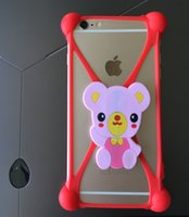 Wholesale Cute Mobile Pouches - High Quality Cheapest Price hot sell 3D Cute Cartoon Frame For Iphone6 6S plus amsung Galaxy S7 All The Mobile Soft Silicon phone Case