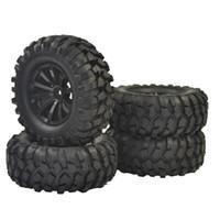 "Wholesale Rc Crawler Wheels - 4PCS RC 1 10 Off-Road Car Beach Rock Crawler Tires Tyre Wheel Rim Crawlr tire set 96mm 1.9"""