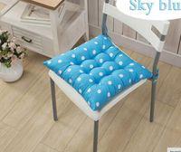 Wholesale Beige Office Chair - Cotton Soft Home Office Decor Square Cotton Seat Cushion Pillow Buttocks Chair Cushion 40*40CM 6 Colors