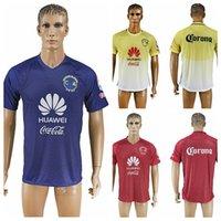 Wholesale Cheap American Sportswear - 2016-2017 Mexico Club American Red Yellow Blue Soccer Jerseys Thai Quality Men's Soccer Shirts Men Soccer Sportswear Cheap Customize Jerseys