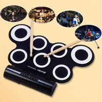 Wholesale Drum Kit Usb Midi - Wholesale-I word USB MIDI Portable Roll Up Electronic Drum G3001A
