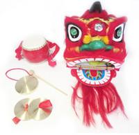 cymbale de tambour de porcelaine achat en gros de-Pures enfants manuels lion gong tambour cymbales chine foshan arts et artisanats populaires 038