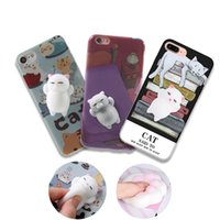 For Apple iPhone squeeze paint - Painting Print D Decompression Squeeze Panda Phone Case Cover Soft Silicone Lovery Cat Squishy Case for Iphone S Plus plus