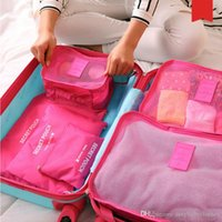 Wholesale Korean Clothing Brands Women - 6 Pcs Brand Travel Storage Bag Set For Clothes Tidy Organizer Pouch Suitcase Home Closet Divider container Organiser