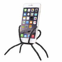 iphone esnek araba standı toptan satış-Taşınabilir Örümcek Esnek Cep Telefonu Tutucu Asılı Araba Montaj Tutucu Standı iphone 7/7 Artı Samsung Galaxy Not 7 için