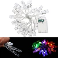 Luces De Fiesta Baratos-Moda 10-LED Photo Clip String Lights LED Fair Light Navidad Wedding Party Home Decor