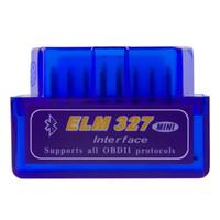 bluetooth otomatik tanılama toptan satış-Araba için obd teşhis tarayıcı otomotiv tarayıcı automotriz Mini V2.1 ELM327 OBD2 ELM 327 Bluetooth Arabirim Oto Araba Tarayıcı