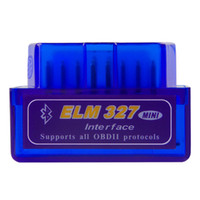 citroen obd tarayıcı toptan satış-Araba için obd teşhis tarayıcı otomotiv tarayıcı automotriz Mini V2.1 ELM327 OBD2 ELM 327 Bluetooth Arabirim Oto Araba Tarayıcı