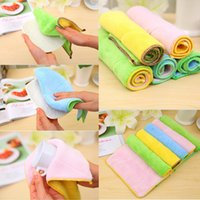 Wholesale Towels Cleaning Cloths - Dish Towel Microfibre Cleaning Soft Double-sided Absorbent Non-stick oil Wash Bowl Towel kitchen Duster Cleaning Cloth
