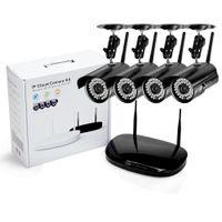 sistema de vigilancia de red al por mayor-4CH 720P WIFI NVR 1.0MP HD IP en red Cámara CCTV P2P WIFI Seguridad para cámaras de seguridad en el hogar en el hogar CCTV kits del sistema