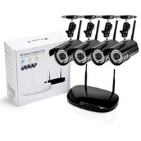 Wholesale Home Security Camera Kits - 4CH 720P WIFI NVR 1.0MP HD IP Network CCTV Camera P2P WIFI Home Outdoor Security camera surveillance CCTV System kits