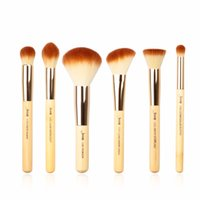 Wholesale Beauty Buffer - 2017 Jessup Brushes 6pcs Beauty Bamboo Professional Makeup Brushes Set Makeup Brush Tools Kit Buffer Paint Cheek Highlight T144