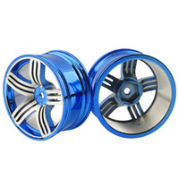 Wholesale Alloy Rc Car Wheels - RC Alloy Wheel 4pc D:52mm W:26mm Fit HSP HPI 1:10 On-Road Drift Car Rim 611B