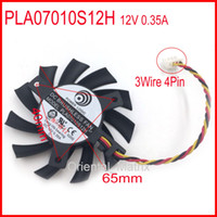 Wholesale Msi Wholesale - Wholesale- POWER LOGIC PLA07010S12H 12V 0.35A 65mm 3Wire 4Pin For MSI Graphics Card Cooling Fan