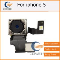 Wholesale Iphone Flash Repair - 100% Guarantee Original New Repair Parts 8.0 Mega Pix Back Rear Camera With Flash Module Flex Cable Ribbon For iPhone 5 5G