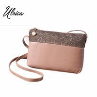 Vente en gros - Casual Vintage Small Women Crossbody Bags Girl Leather Messenger Bag Sac à enveloppe rétro Sac à main Sac à main Sling Shoulder Bag Thin
