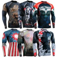 Wholesale Tights Bike Orange Men - Ghostwolf Men's Fashion Fashion Compression Tights Long Sleeves Cloth Bodybuilding Fitness Sports Bike Top Jersey The Full Body 3D Printing