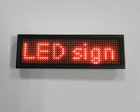 Wholesale Message Tags - (Direct manufacter)Led scrolling message card for hotel worker use ,waiters led name badge,Programmable LED Scrolling Name Tag
