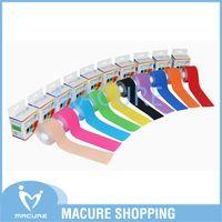 Wholesale K Tape - Wholesale-kinesiology tape sport physical sports musle kinesio K active Tape 5cmx5m Basketball Soccer Tennis Badminton