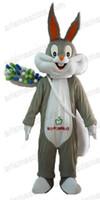 traje de coelho de páscoa venda por atacado-AM0123 Adulto Tamanho Bugs Bunny Rabbit Mascot Costume para a Páscoa Feriado Dos Desenhos Animados Trajes Da Mascote para Crianças Festa de Aniversário Deguisement Mascotte