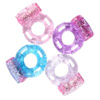 Wholesale Mens Vibrating Toys - Hot Sale Mens Vibrating Cock Ring Adult Toys Penis Rings Cockring Delay Premature Ejaculation Lock Cock Rings Sex Products FF0041