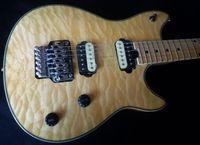 Wholesale halen electric guitar online - Custom Edward Van Halen Wolf Music Man Ernie Ball Axis White Flame Maple Top Electric Guitar Tremolo Bridge Back Cover Maple Fingerbaord