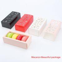 Wholesale Macaron Baking Packaging Wholesale - Macaron Beautiful package Multi-purpose Hollow Short Paragraph Macaron box Home Baking Boutique Packaging Box 4 colors.